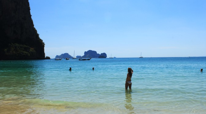 Soaking Up The Sun On Railay Beach: Krabi/Aonang, Thailand