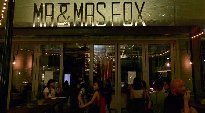 Mr & Mrs Fox: New Restaurant News