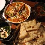 bindaas - nargisi kofte, chicken khada masala, paneer palak, naan