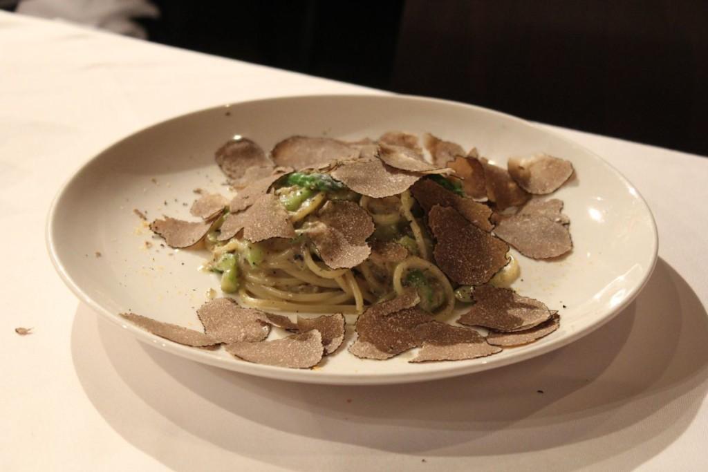 gia trattoria - spaghetti with truffle