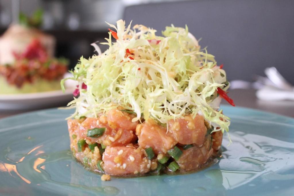 limewood - salmon tartare
