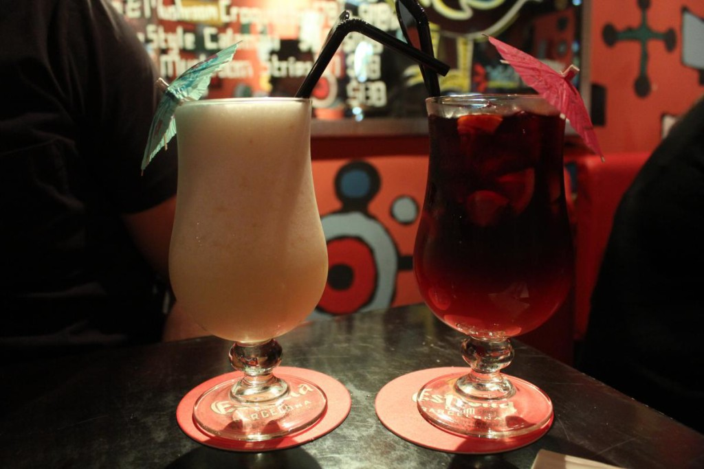 flaming frango - drinks