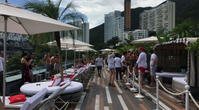 Cabana: Soaking up the sun (and champagne) at Repulse Bay